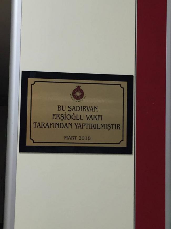 Çekmeköy/Şehit Ömer Halisdemir Kız Anadolu imamhatip Lisesi ve Ortaokulundan vakfımıza gelen talep üzerine okulun şadırvanı yaptırılmıştır.